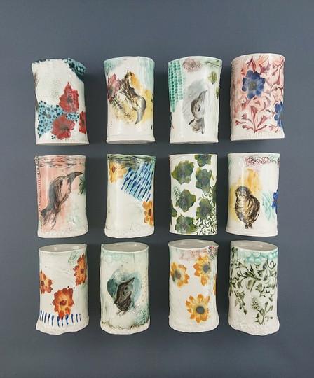 Gobelet ou petit vase à empreintes