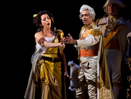 Lisette Oropesa and Anthony Roth Costanzo at the Met Opera