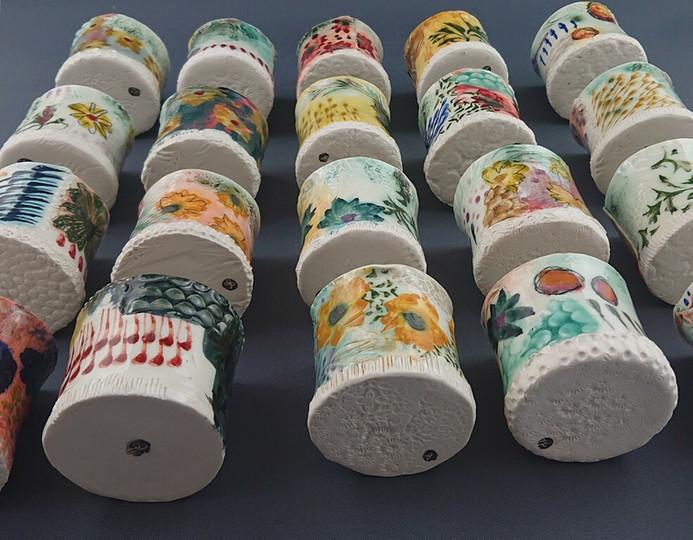Petites plaquées acidulées (tasses à expresso)