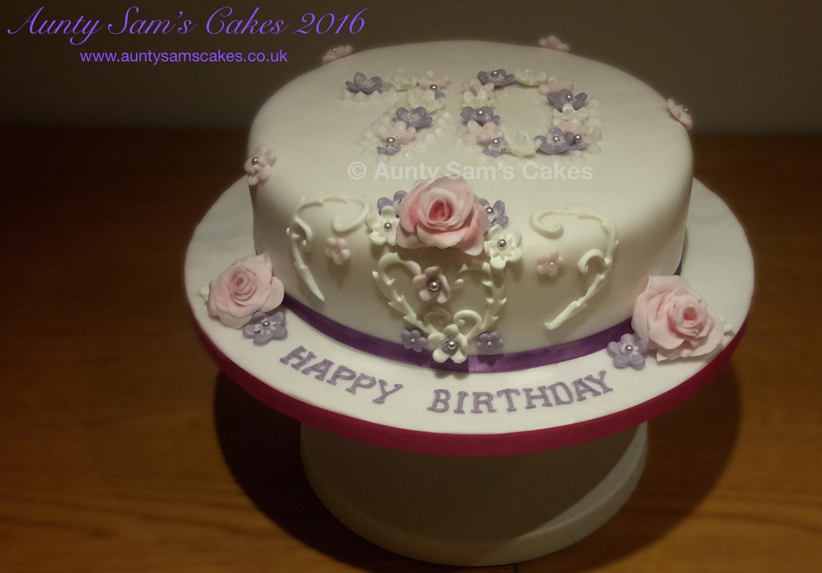 70th Birthday Cake 09 16 B