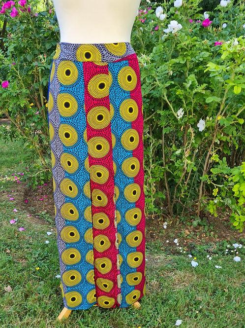 Africa Print Maxi Skirt