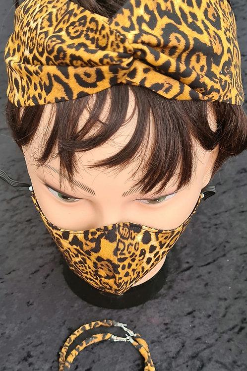 Leapord Print Mask