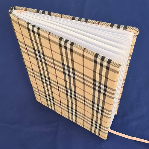 Fabric wrapped note books