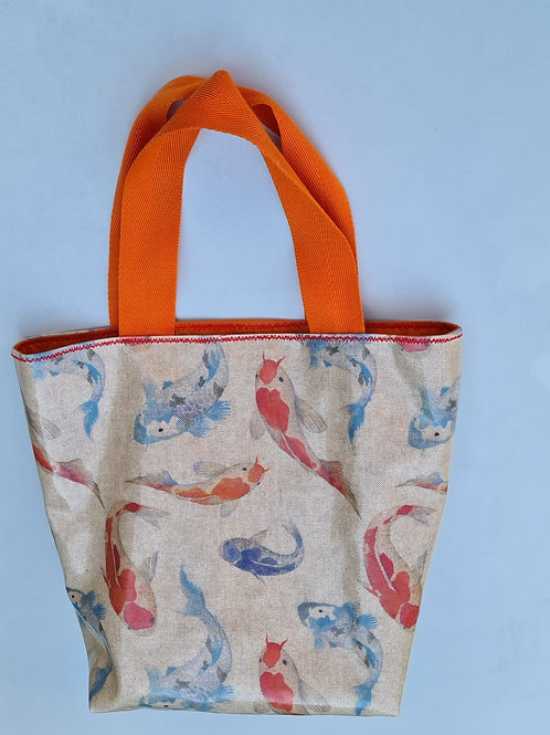 Fish pattern - oilcloth tote