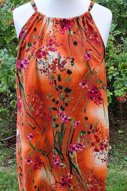 Warm Autumn Colour Floral Dress