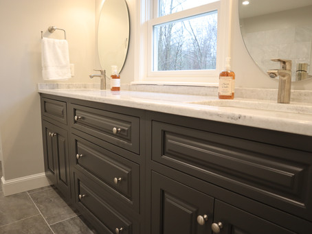 Our latest master bath remodel and addition in Groton, MA
