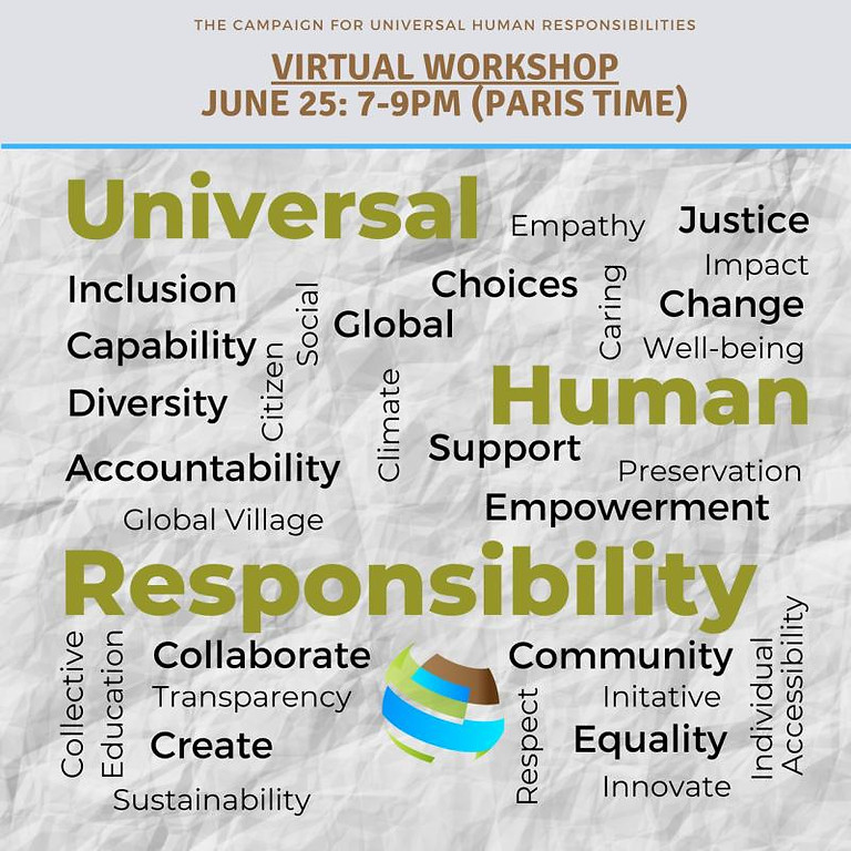 Third Online Interactive Workshop- The Campaign for Universal Human Responsibilities