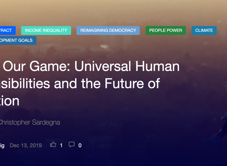 Launch: Raising Our Game: Universal Human Responsibilities and the Future of Civilization