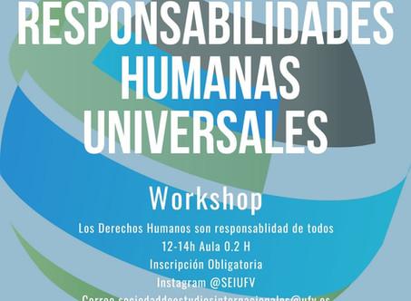 First workshop in Spanish: Discutiendo las Responsabilidades Humanas Universales