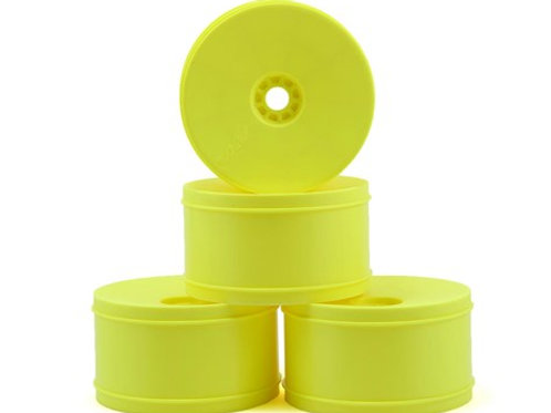 AKA EVO 1/8 Truggy Standard Offset Wheels (4) (Yellow)