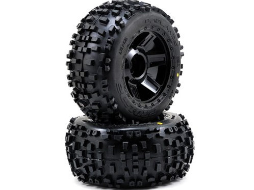 """Pro-Line Badlands 3.8"""" Tire 1/2"""" Offset Wheel (2)"""