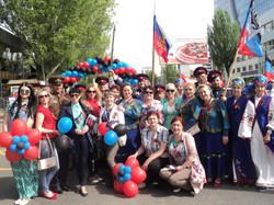 наша делегация в Донецке