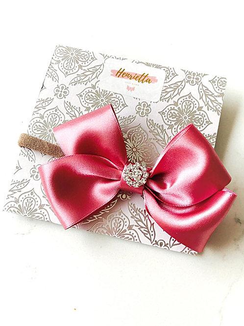 Dusky Pink 4 Inch Bow Headband