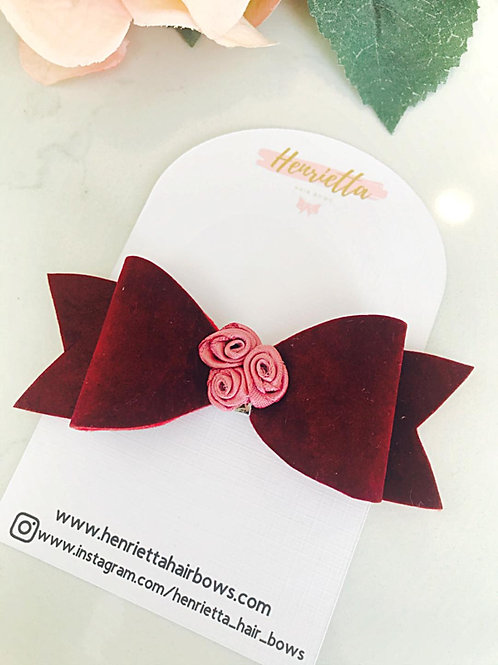 Blackberry Faux Suede Hair Bow