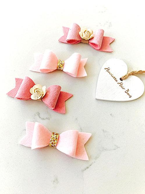 Pink Bow Sparkle Set