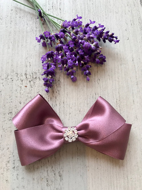 Plum party bow