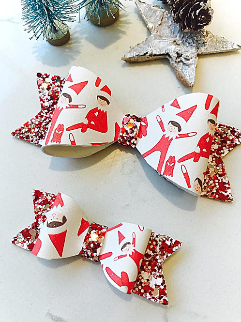 Elf on the Shelf Matching Bows