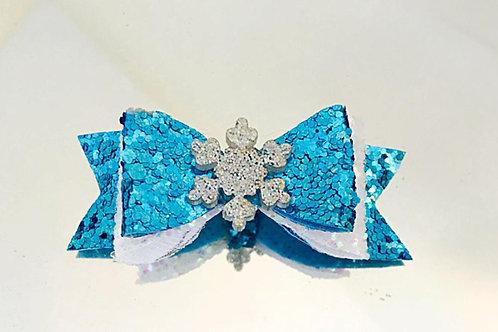 Snowflake sparkle bow