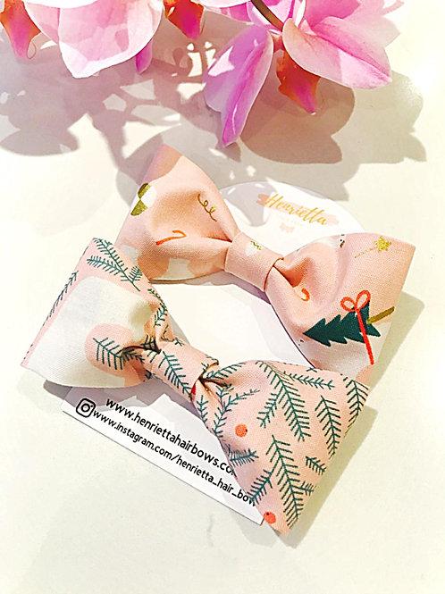 Christmas Fabric Bow Set