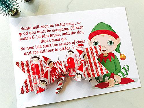 Elf on the Shelf Hair Bow & Gift Card