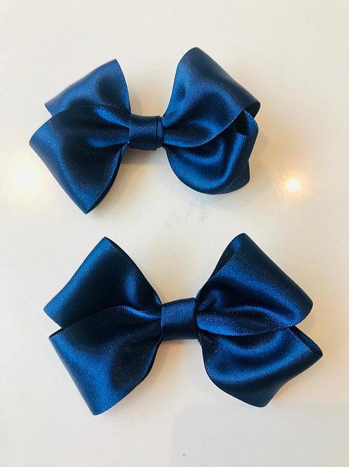 Matching 4 inch Navy School Bows