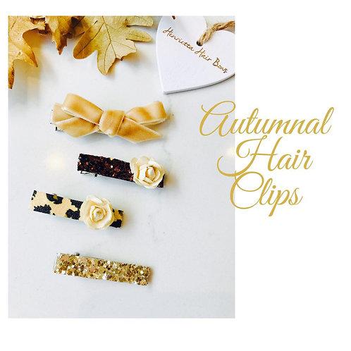 Autumn Gold Hair Clip Set