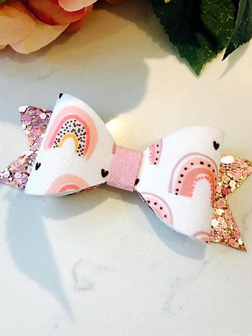 Rainbow Sparkle Bow