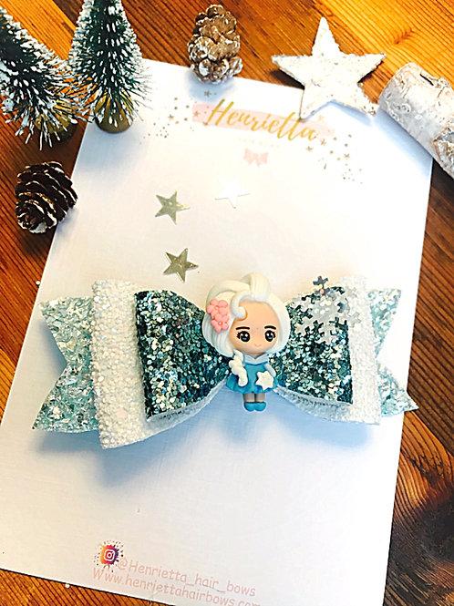 Frozen Inspired Hair Bow