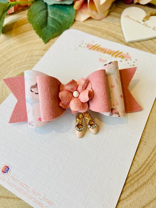 Pink Ballet Charm Bow