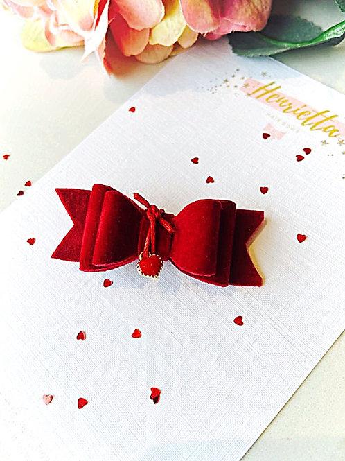 Red Velvet Valentine's Day Hair Bow