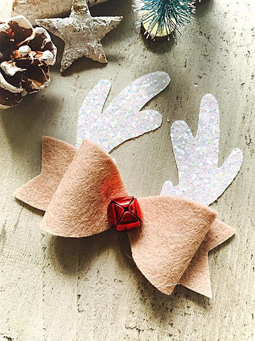 Rudolph Jingle Hair Bow!