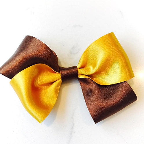 Brown and Gold Bow