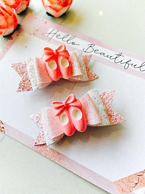 Little Ballerinas Pig Tail Bows