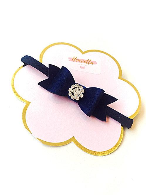 Blue VelvetBaby Headband with Diamante