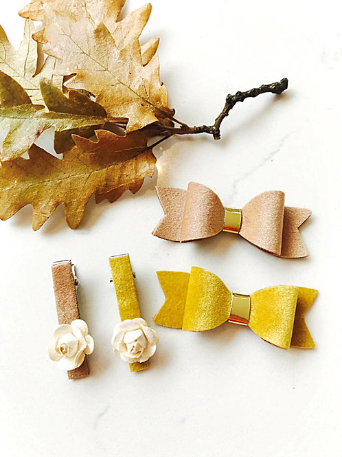 Autumnal Golds Bows & Clips