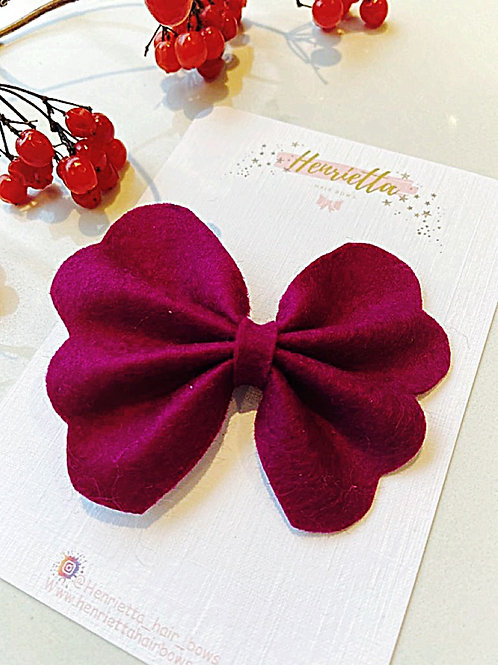 Plum Butterfly Hair Bow