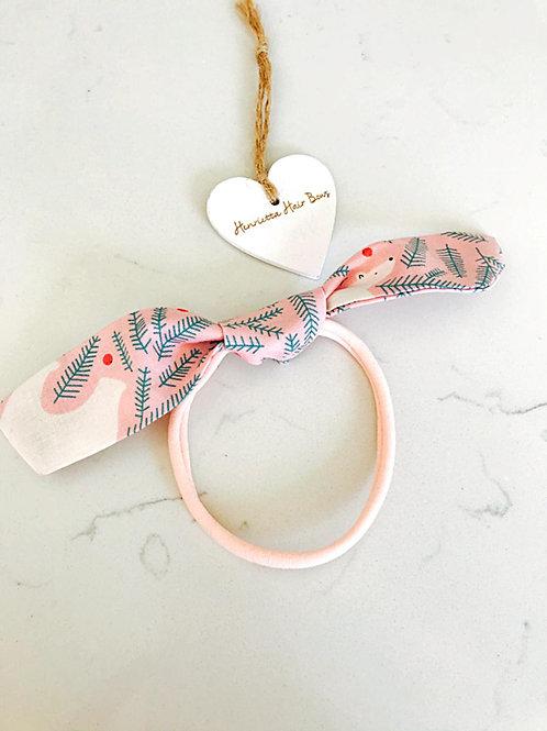 Pink Polar Bear Bunny Ears Headband