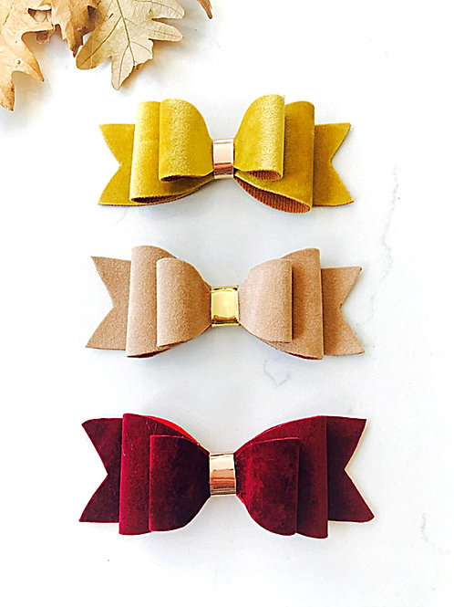 Autumnal Collection Of 4 Inch Bows