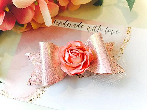 Rose Bud Shimmer Bow