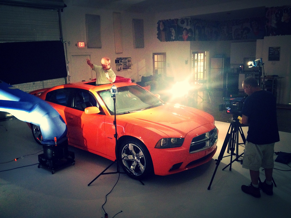 Spartanburg Chrysler commercial shoot with Ethan Wade