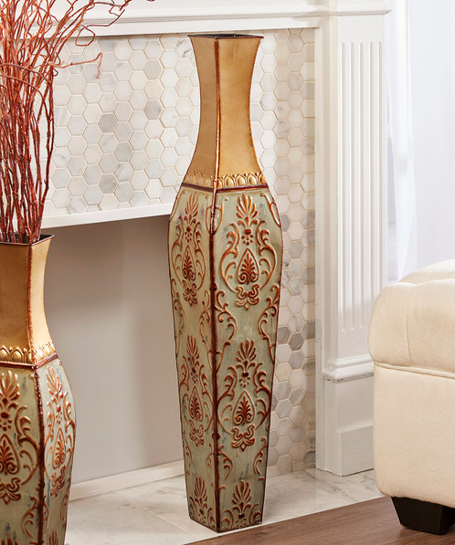 Metal Floor Vase Large
