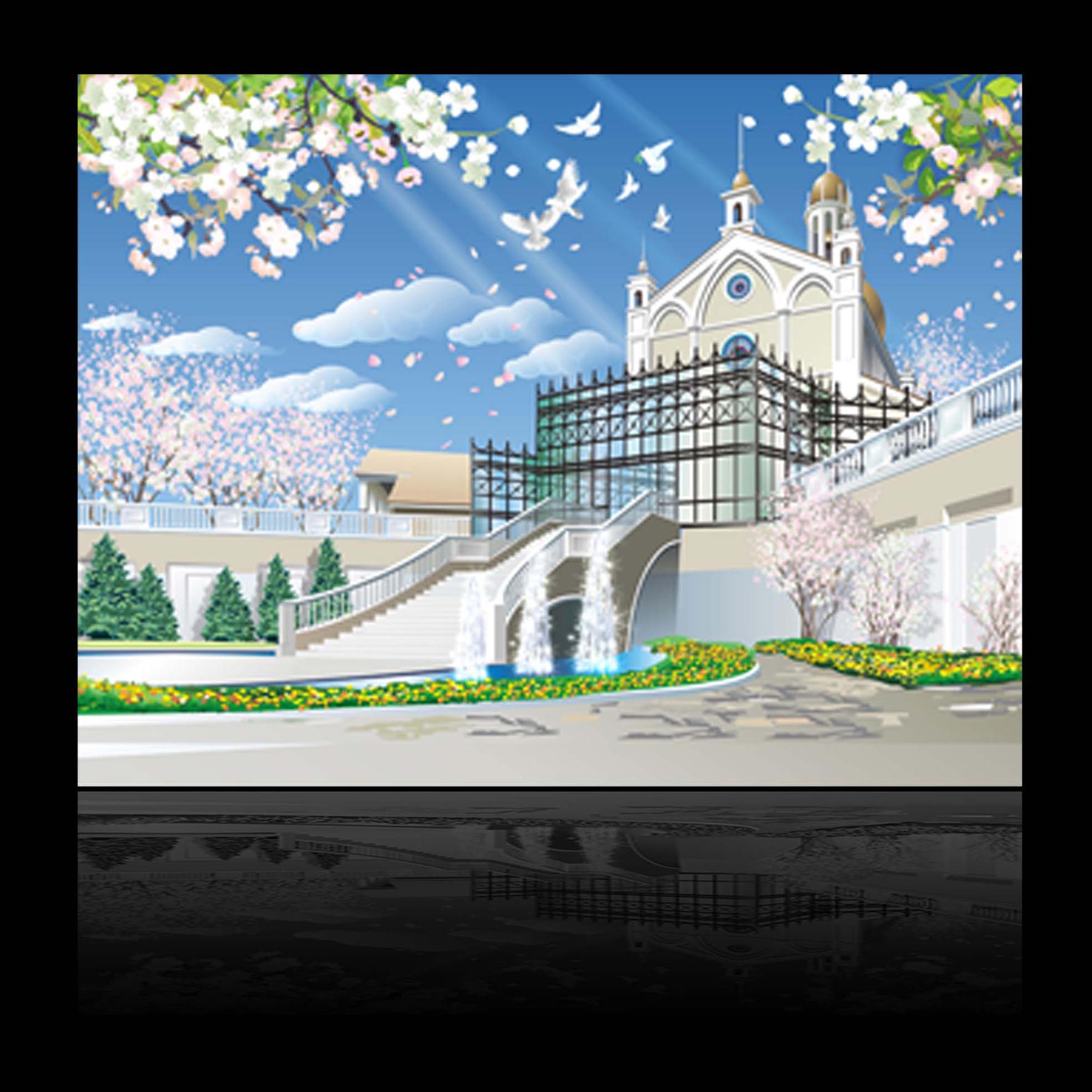 3_векторная отрисовка backgrounda для японских карикатур