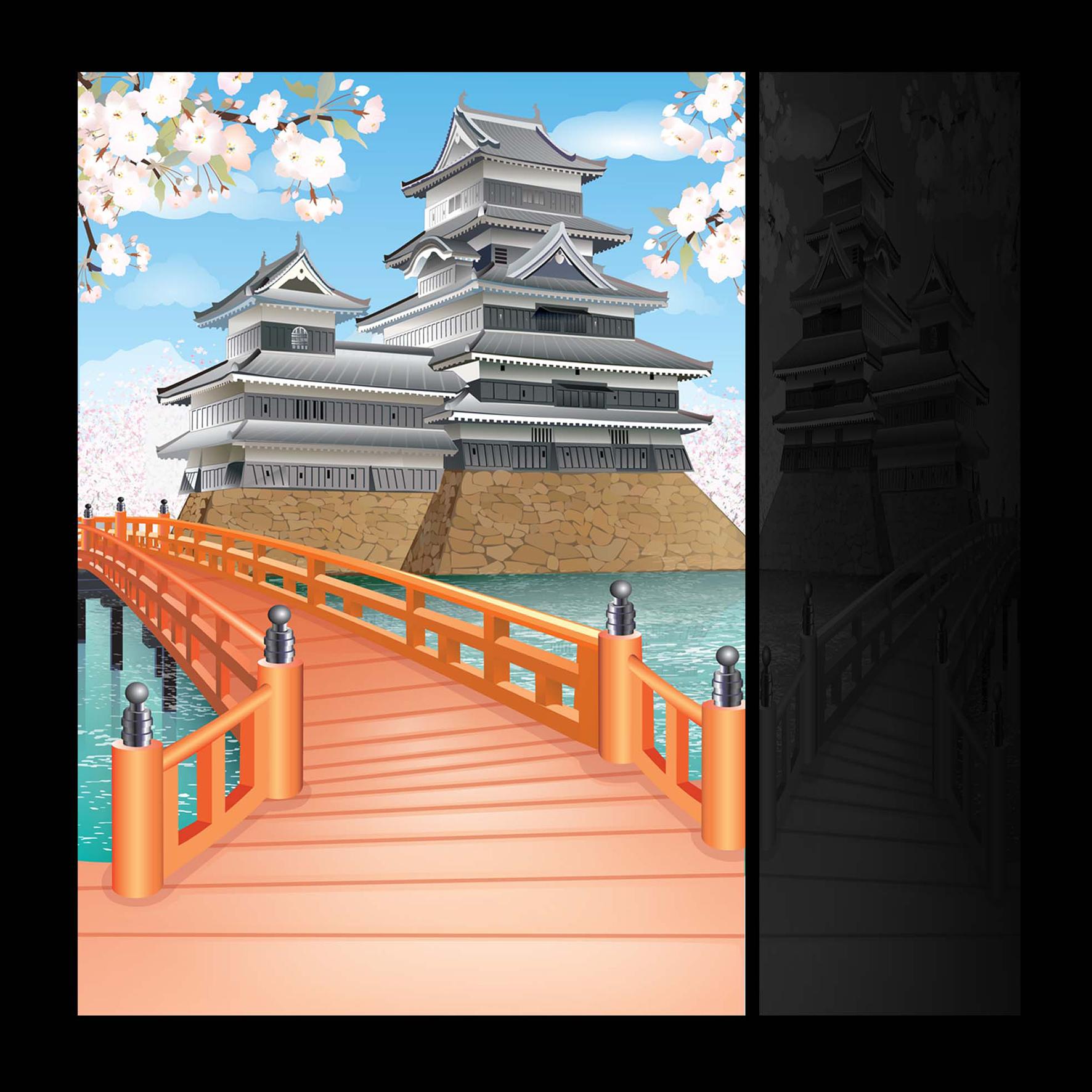 1_векторная отрисовка backgrounda для японских карикатур