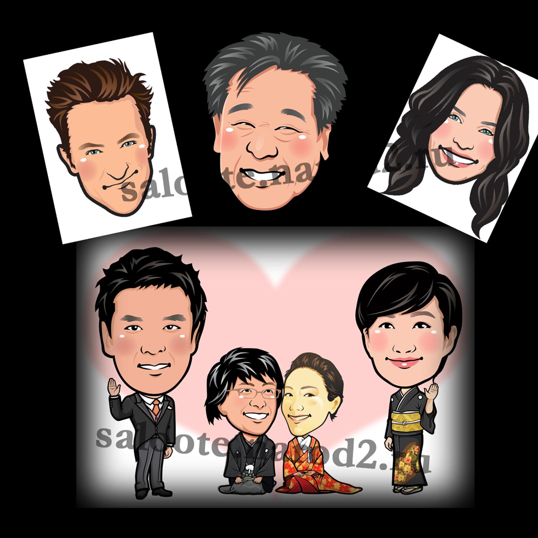 Отрисовка карикатур для японских мероприятий