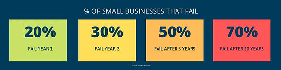percent of business that fail Infographi