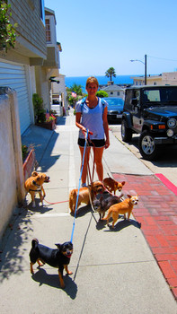 Kelly and her pack