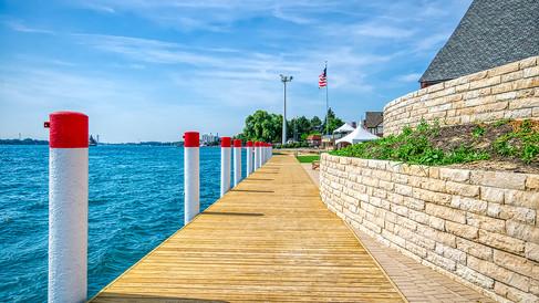 boardwalk looking N piles painted