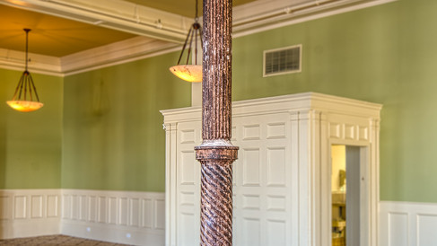 cast iron column in ballroom