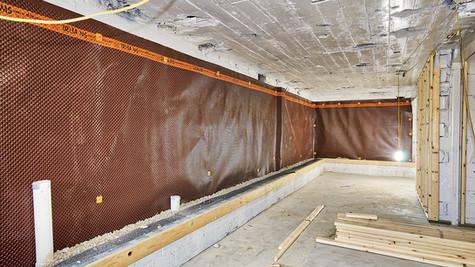 basement wall prep & framing one
