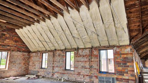 Main structure 2nd floor - spray insulation